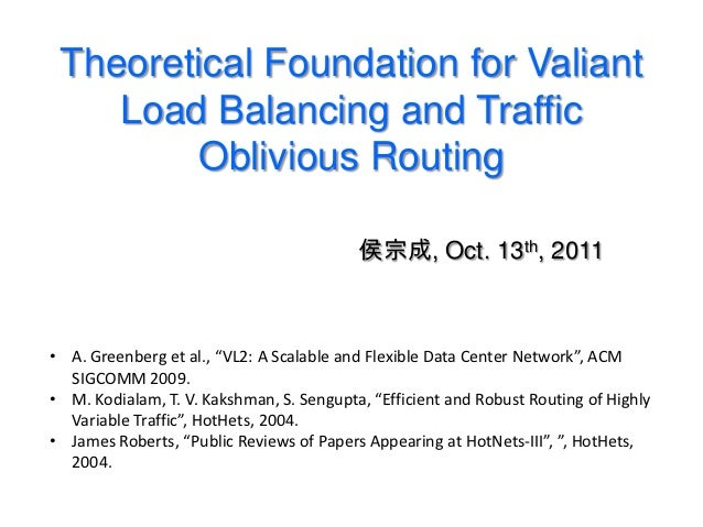 Valiant Load Balancing and Traffic Oblivious Routing