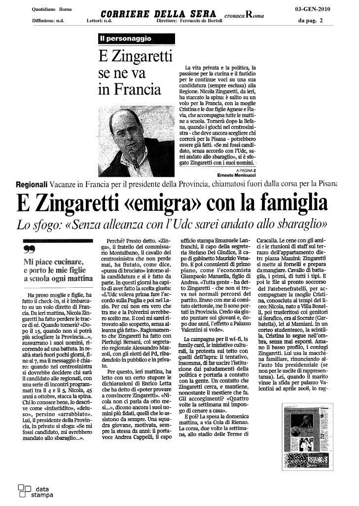 Rassegan stampa Regionali Lazio 2010 - Nicola Zingaretti