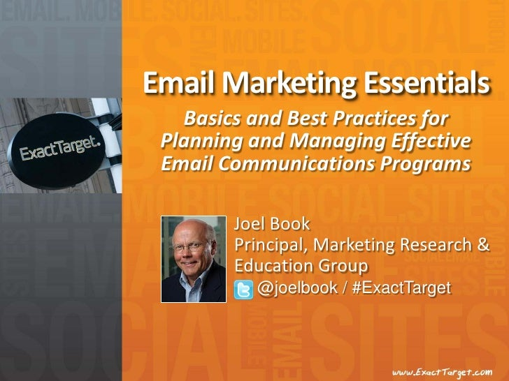 Email Marketing Essentials   Basics and Best Practices for Planning and Managing Effective Email Communications Programs  ...