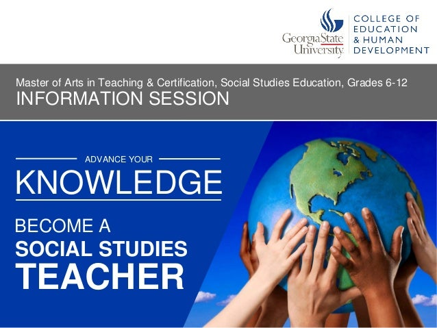 become a social studies middle or high school teacher