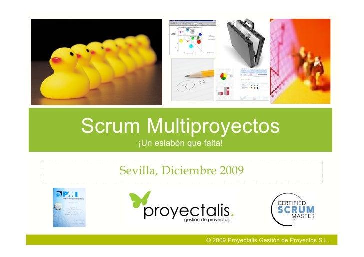 Scrum Multiproyectos       ¡Un eslabón que falta!      Sevilla, Diciembre 2009                            © 2009 Proyectal...