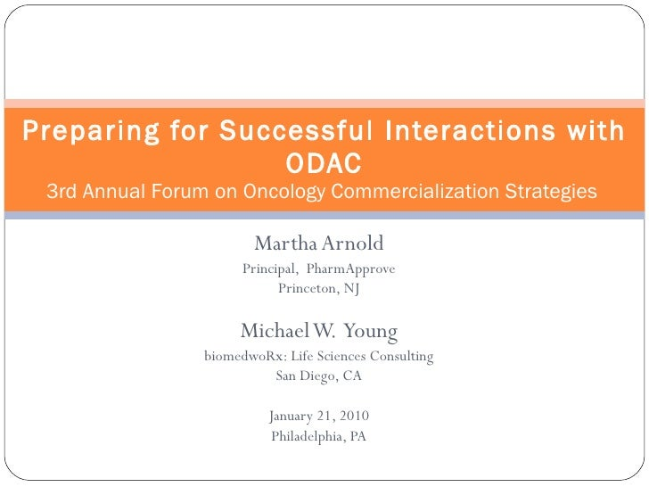 ODAC: Preparing For Successful Interactions w/ Oncology