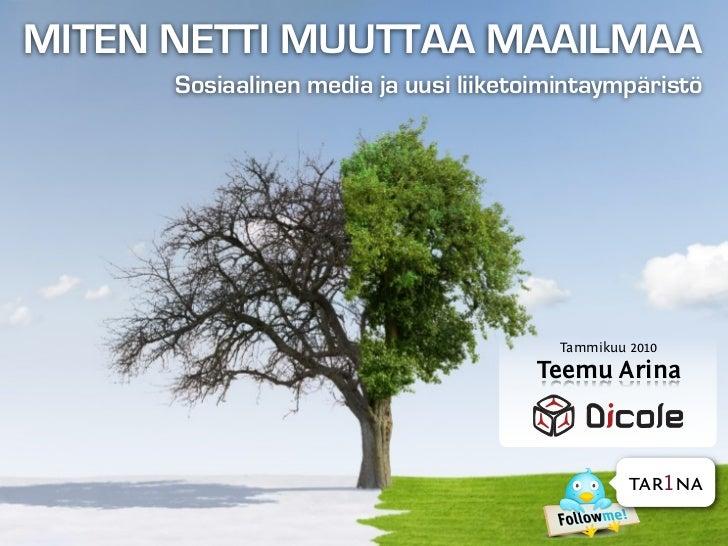 MITEN NETTI MUUTTAA MAAILMAA       Sosiaalinen media ja uusi liiketoimintaympäristö                                       ...