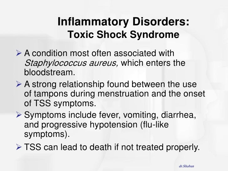 the link between toxic shock syndrome and the use of tampons Toxic shock syndrome is incredibly rare and if you use tampons properly, your risk of developing it is no higher than that of a man who's never had a period .