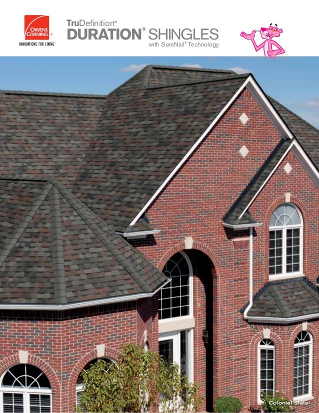 HOME SWEET HOME Colonial Slate† Owens Corning roofing and asphalt, llc one owens corning parkway toledo, ohio, usa 43659 1...