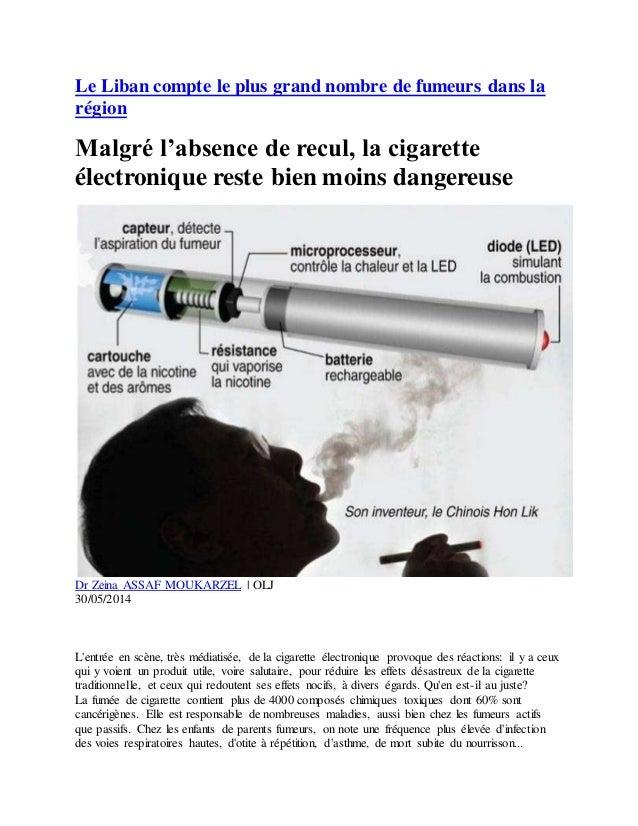 Le Liban compte le plus grand nombre de fumeurs dans la région Malgré l'absence de recul, la cigarette électronique reste ...