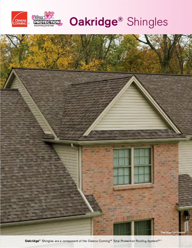 Oakridge Shingles Data Sheet