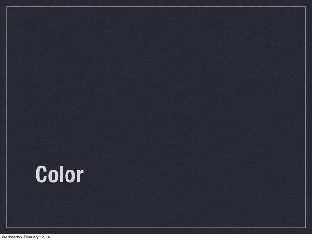 Color Wednesday, February 12, 14
