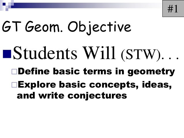 1001 geobasicterms2013 day 1
