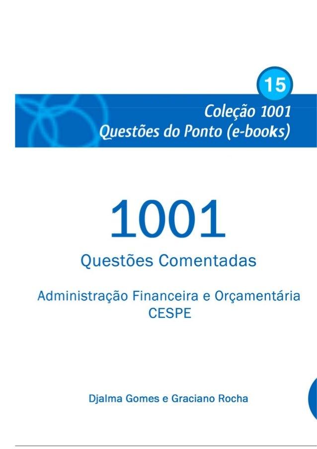 1001 Questoes Comentadas De Afo Cespe Admnistracao Financeira E