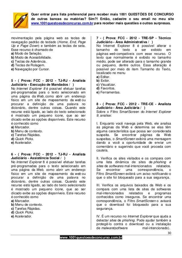 1001 questões de concurso   informatica - fcc - 2012