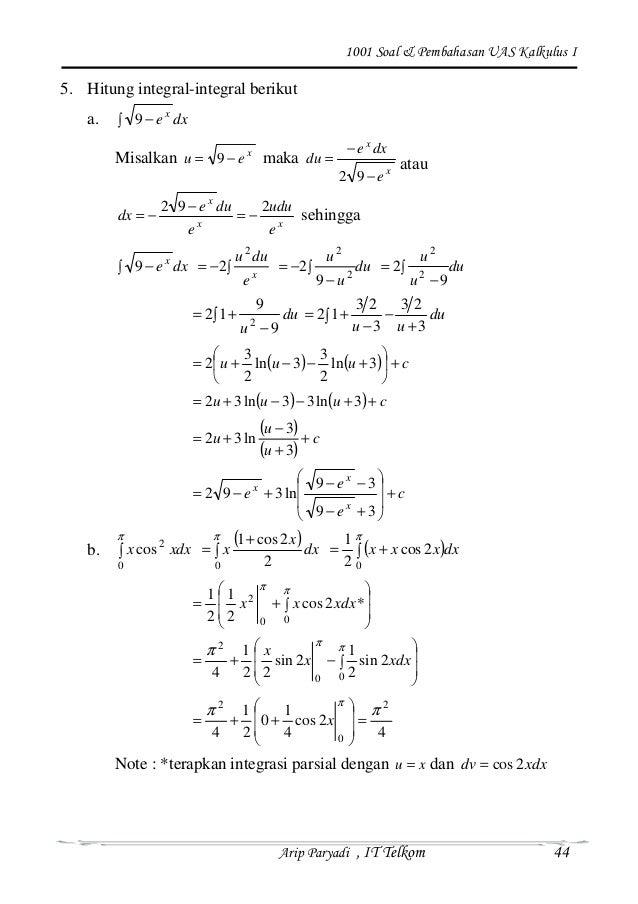 1001 Soal Pembahasan Kalkulus