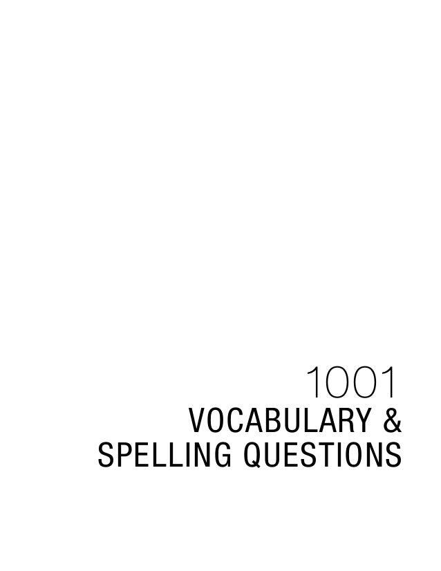 1001 Vocab Spell 2e