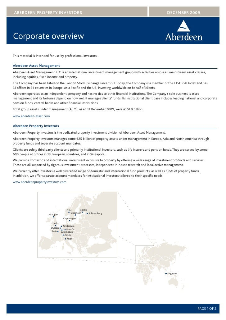 Corporate Overview Europe