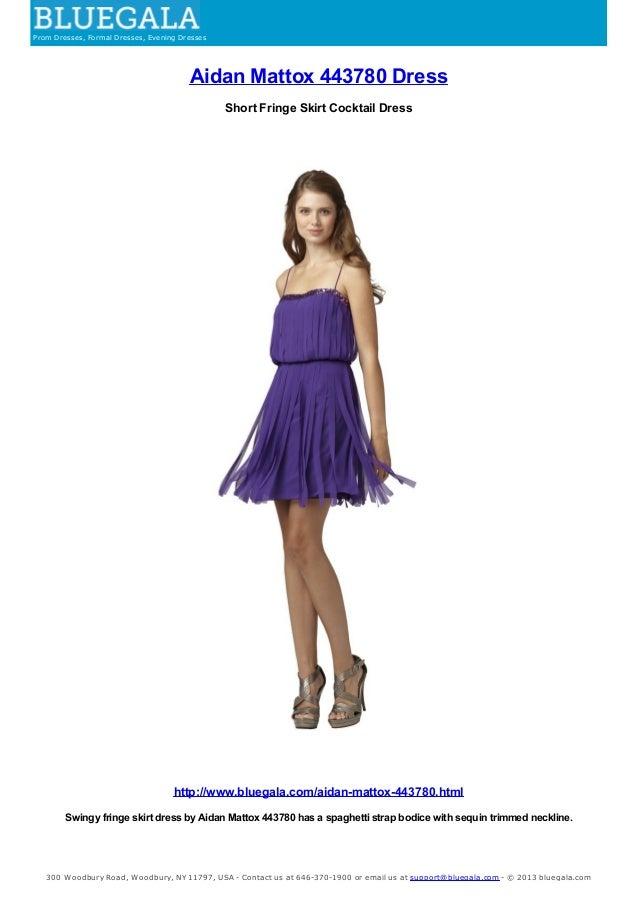 Aidan Mattox Dress Short Fringe Skirt Cocktail Dress