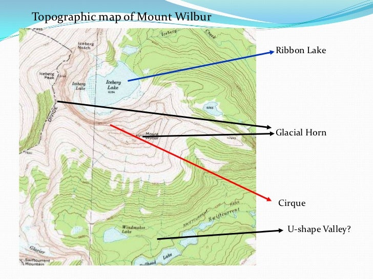 Glacial Features On Topographic Maps