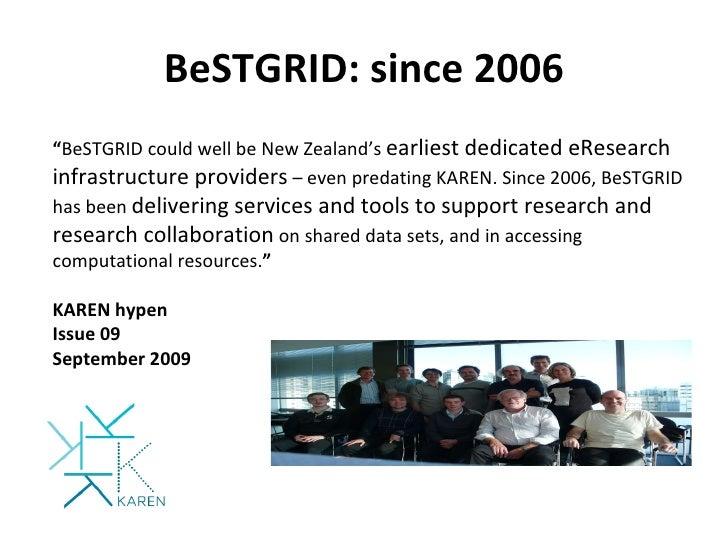 SKA NZ R&D BeSTGRID Infrastructure