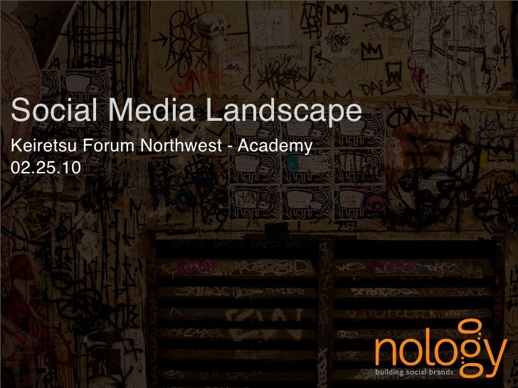 Social Media Landscape Keiretsu Forum Northwest - Academy 02.25.10                                          building socia...