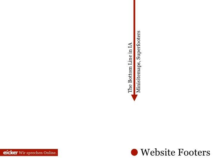Wir sprechen Online.                           The Bottom Line in IA                           Minisitemaps, Superfooters ...