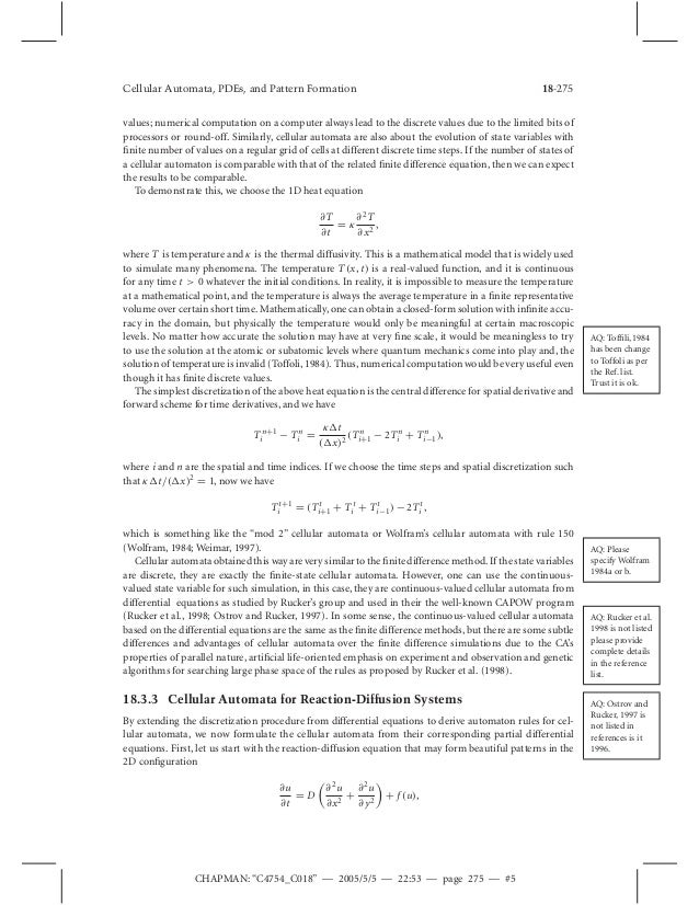 Cellular automaton modeling of biological pattern formation cellular automata pdes and pattern formation array cellular automata pdes and pattern formation rh slideshare net fandeluxe Gallery
