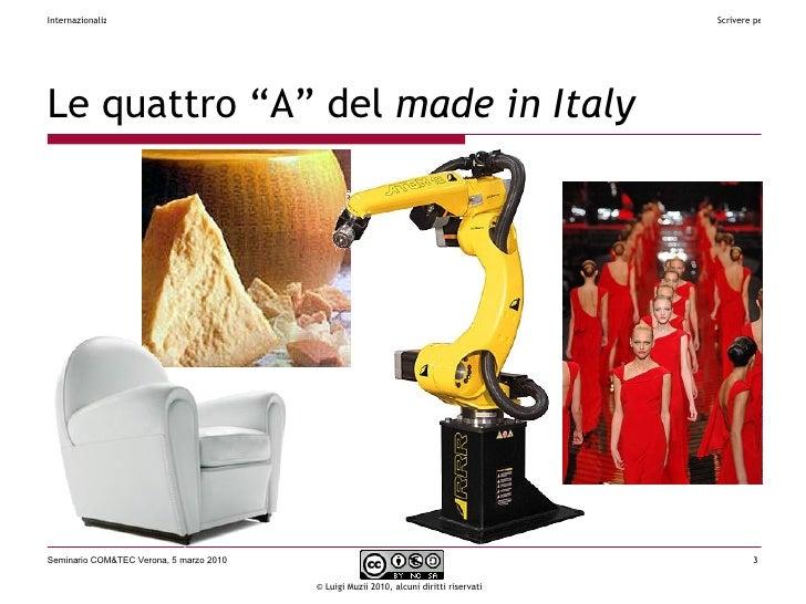 """Le quattro """"A"""" del  made in Italy"""