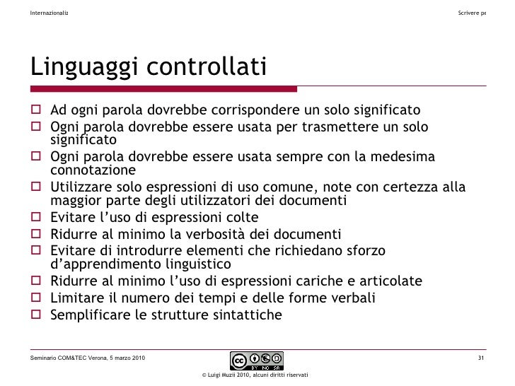 Linguaggi controllati <ul><li>Ad ogni parola dovrebbe corrispondere un solo significato </li></ul><ul><li>Ogni parola dovr...
