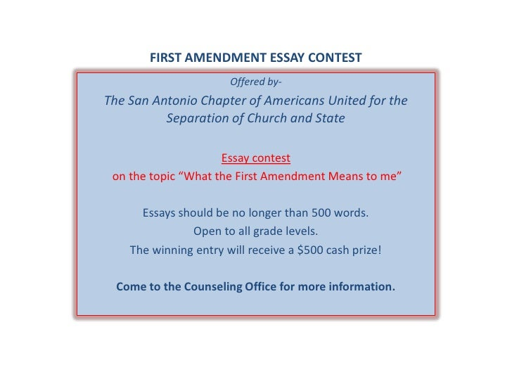 First Amendment Essay Contest Jpgcb