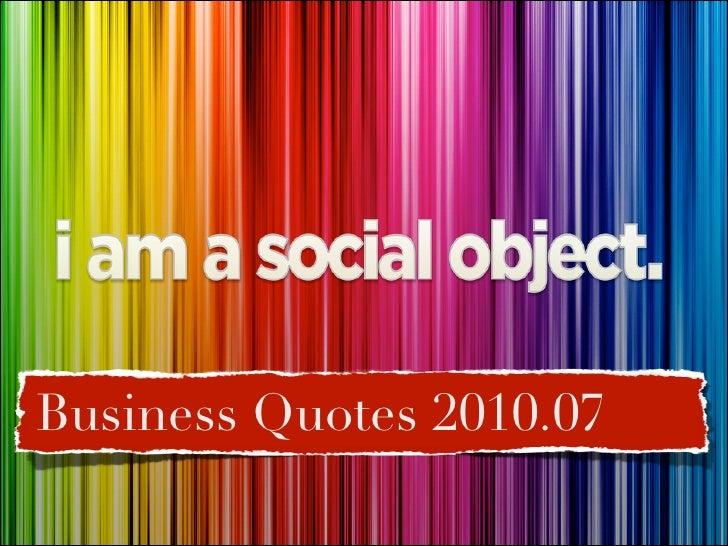 Quotes 2010.07