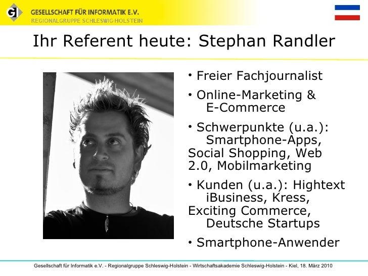 Referent Stephan Randler: Überblick über den App-Markt, Trends und Business-Strategien Slide 2