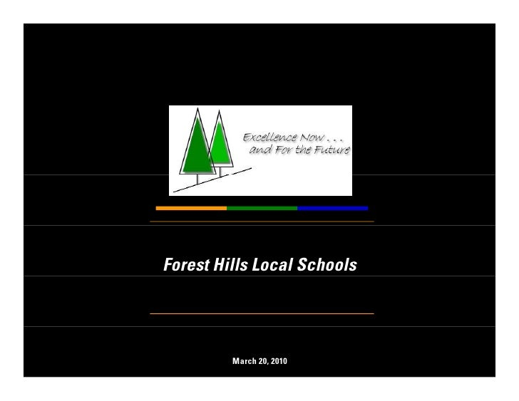 Forest Hills Local Schools              March 20, 2010