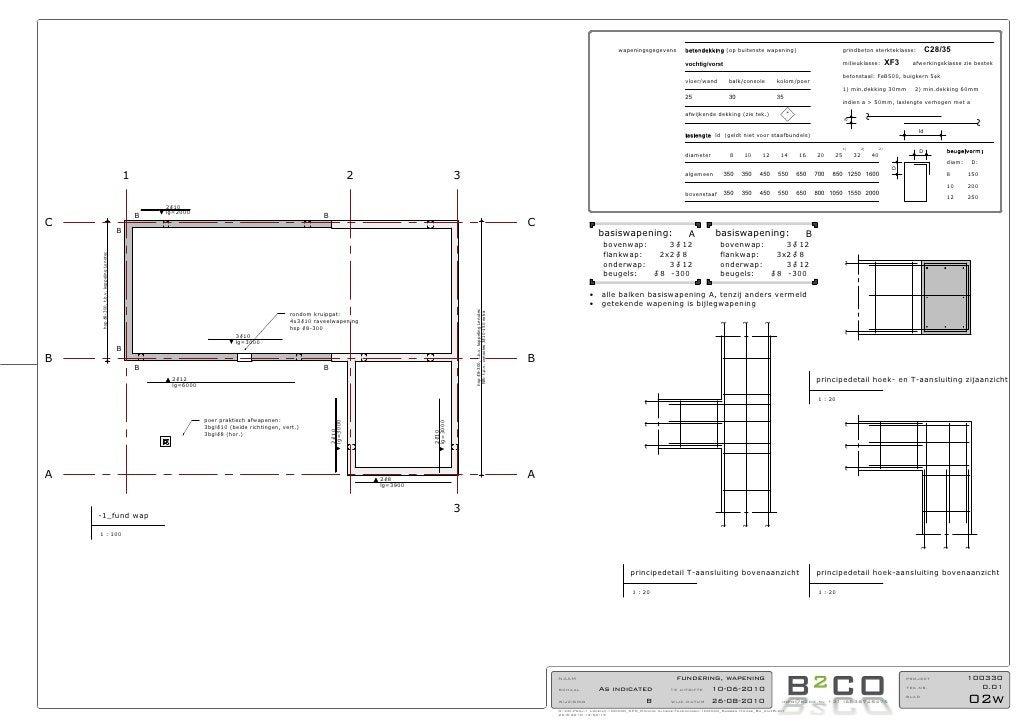 wapeningsgegevens         betondekking (op buitenste wapening)                           grindbeton sterkteklasse:        ...