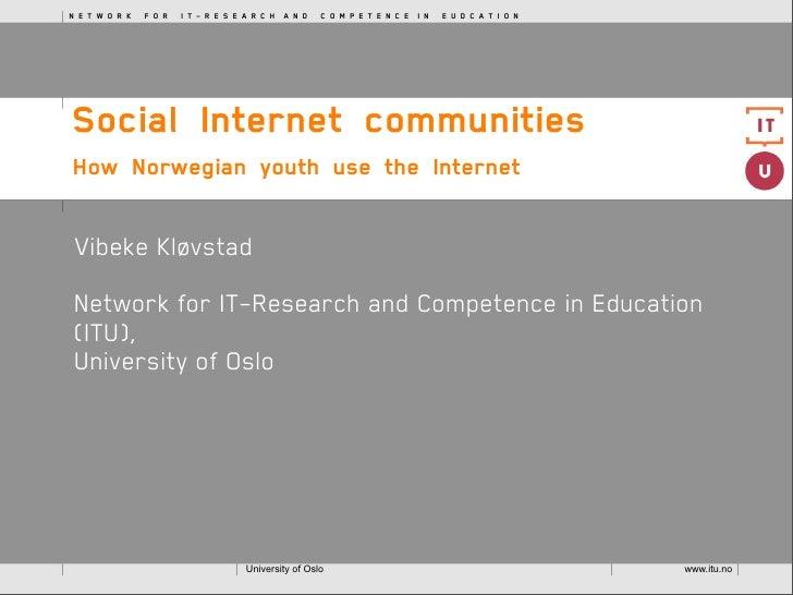 NETWORKFORIT-RESEARCHANDCOMPETENCEINEUDCATION     SocialInternetco...