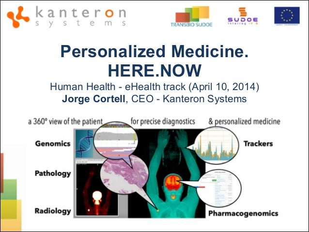 Personalized Medicine. HERE.NOW Human Health - eHealth track (April 10, 2014) Jorge Cortell, CEO - Kanteron Systems
