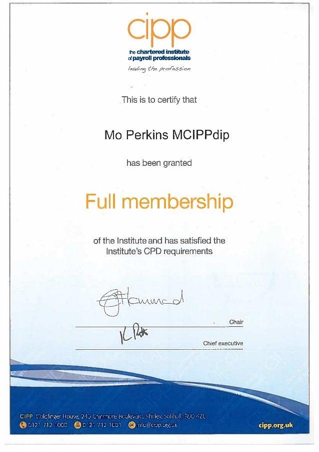 membership cipp slideshare certificate pdf upcoming