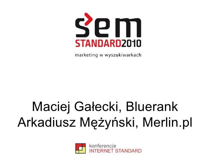 Maciej Gałecki, Bluerank Arkadiusz Mężyński, Merlin.pl