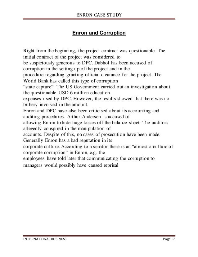 In re Enron Corp. Case Brief - Quimbee