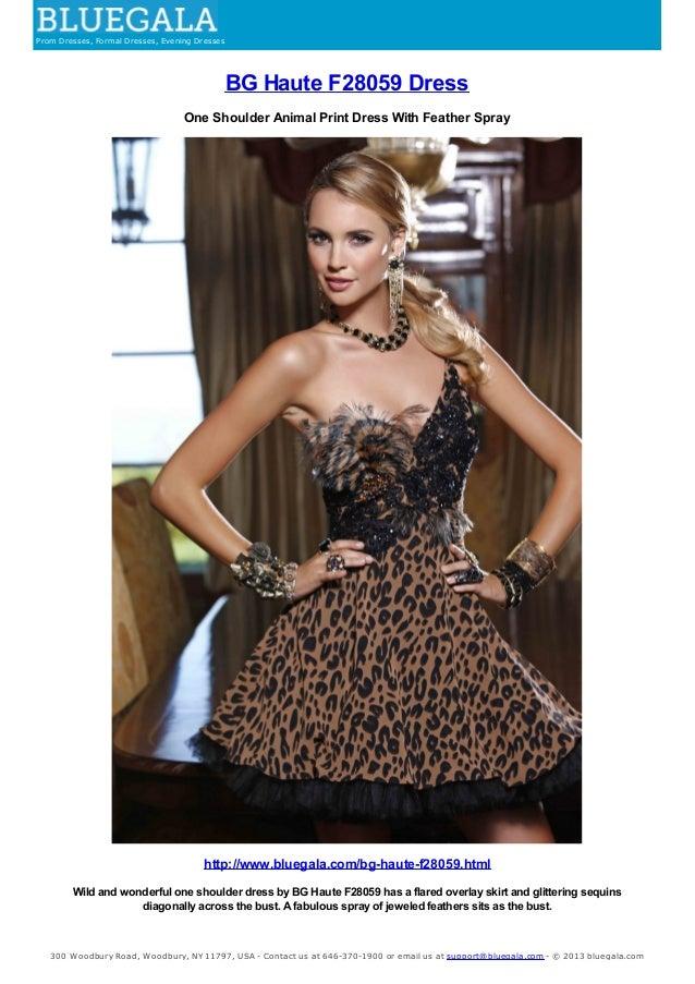 BG Haute One Shoulder Dress