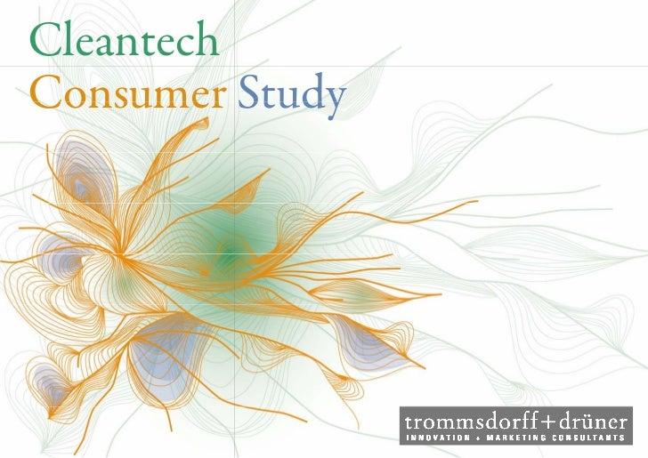 CleantechConsumer Study            dy            d
