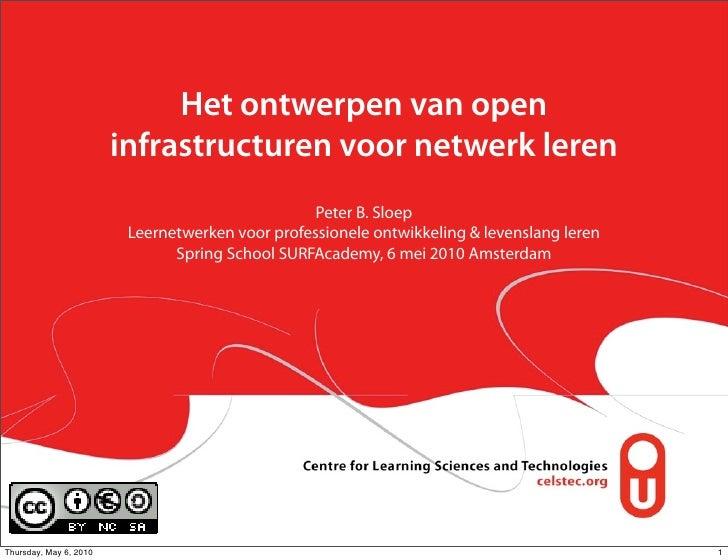 Het ontwerpen van open                         infrastructuren voor netwerk leren                                         ...