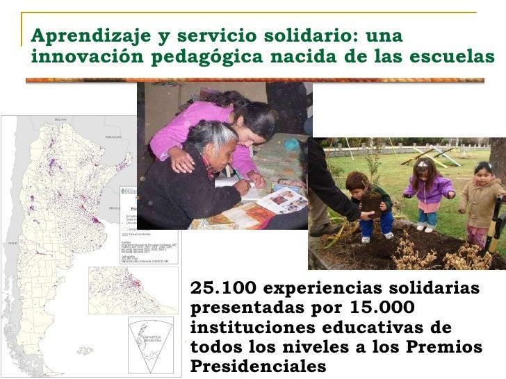"""La propuesta pedagógica del """"aprendizaje-servicio solidario"""" Slide 2"""
