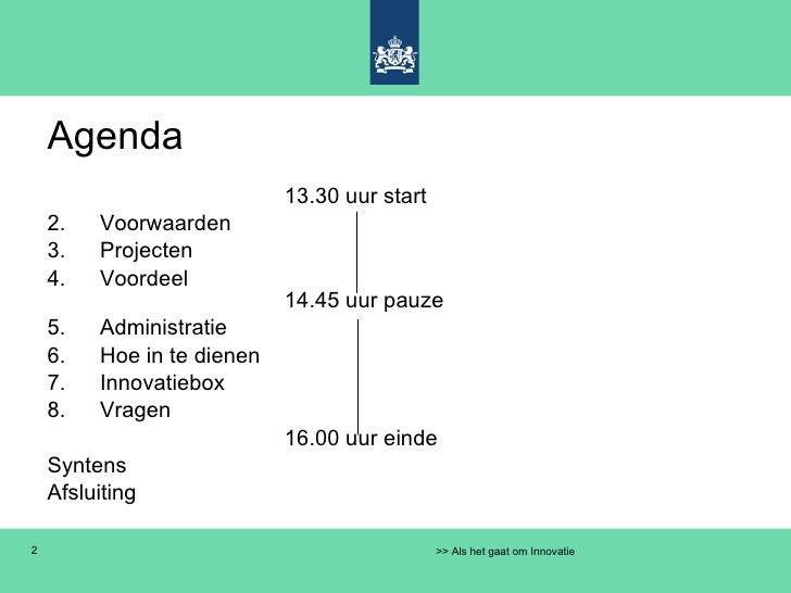 WBSO Syntens Amsterdam 11 mei 2010 Slide 2