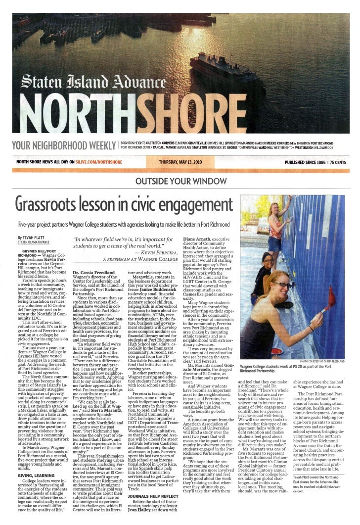 Staten Island Advance highlights Port Richmond Partnership