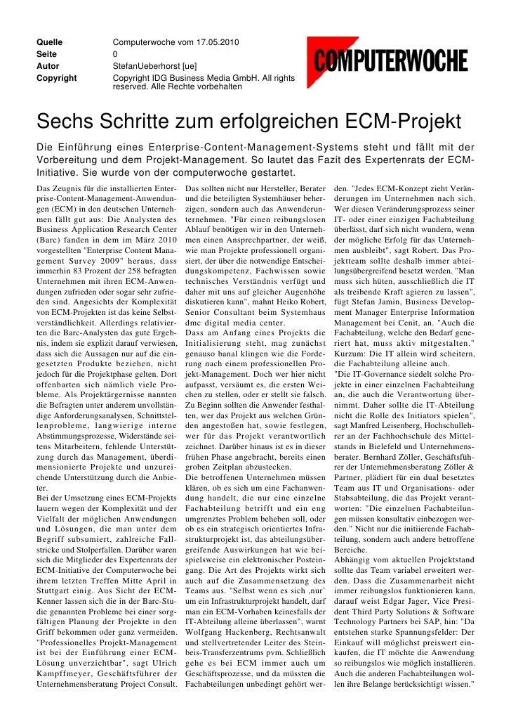 Quelle                Computerwoche vom 17.05.2010 Seite                 0 Autor                 StefanUeberhorst [ue] Cop...