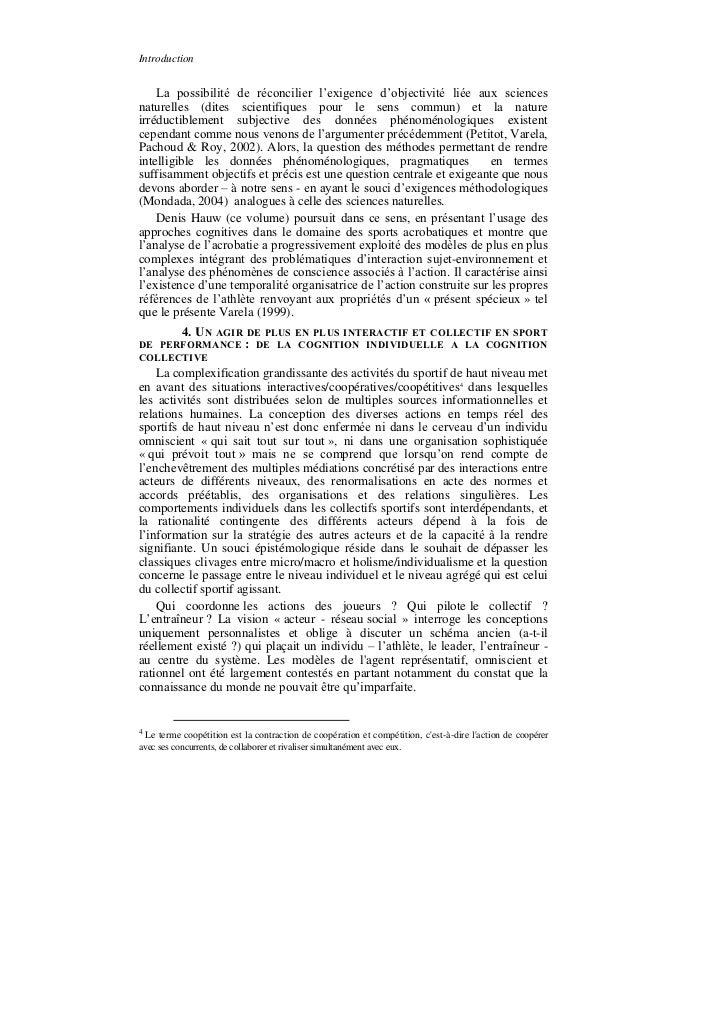 Introduction    La possibilité de réconcilier l'exigence d'objectivité liée aux sciencesnaturelles (dites scientifiques po...