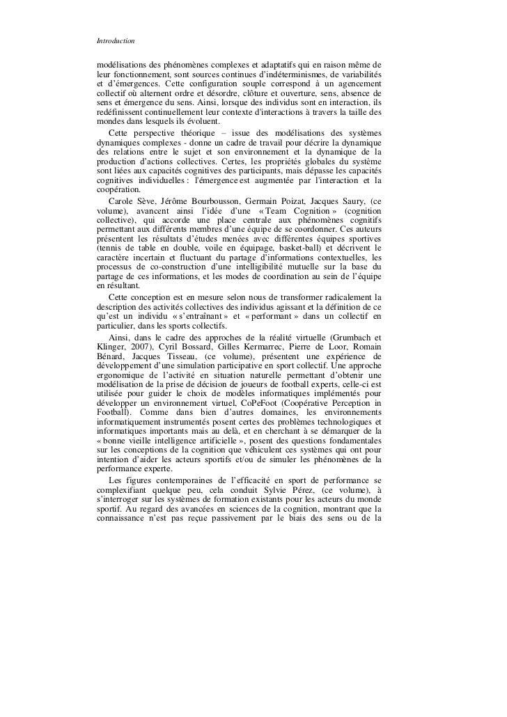 Introductionmodélisations des phénomènes complexes et adaptatifs qui en raison même deleur fonctionnement, sont sources co...