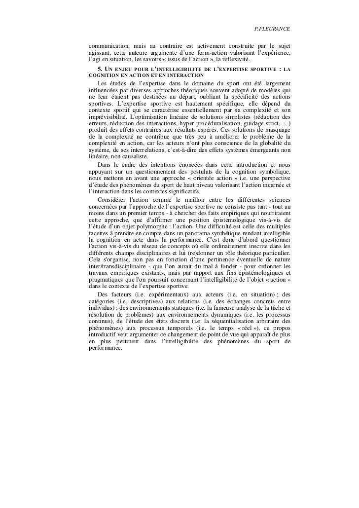 P.FLEURANCEcommunication, mais au contraire est activement construite par le sujetagissant, cette auteure argumente d'une ...