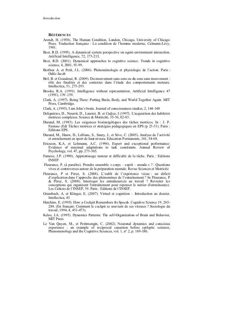 Introduction   RÉFÉRENCESArendt, H. (1958). The Human Condition, London, Chicago, University of Chicago    Press. Traducti...