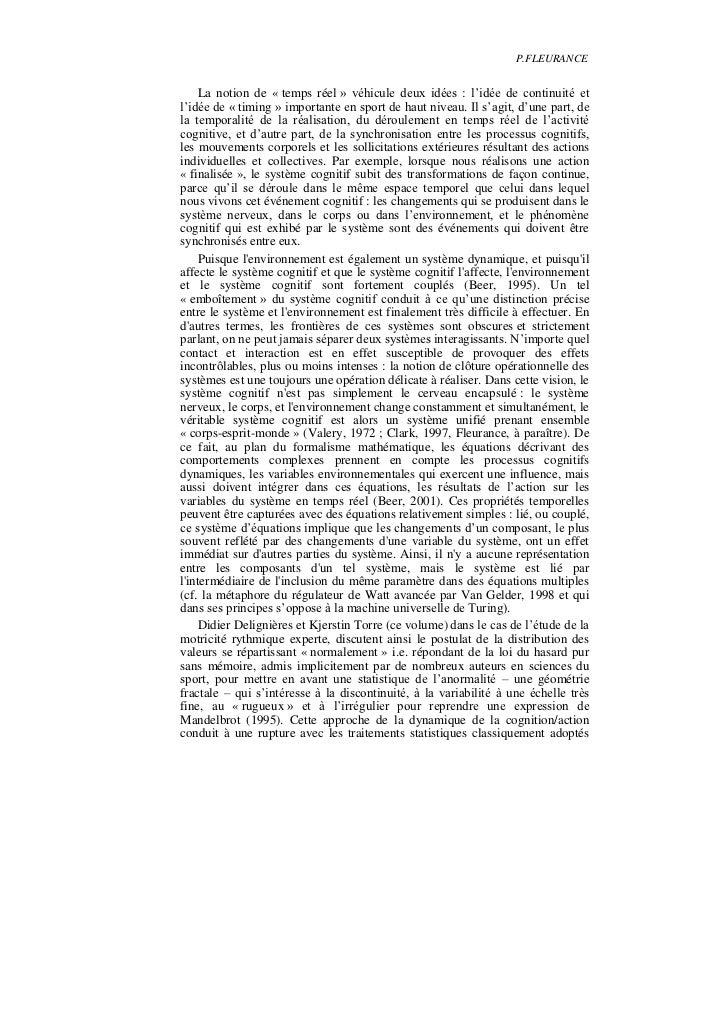 P.FLEURANCE    La notion de « temps réel » véhicule deux idées : l'idée de continuité etl'idée de « timing » importante en...