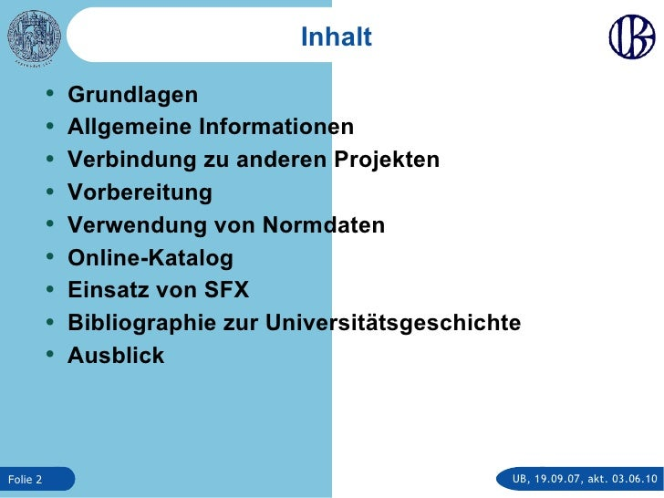 Die Universitätsbibliographie der Universität Rostock Slide 2
