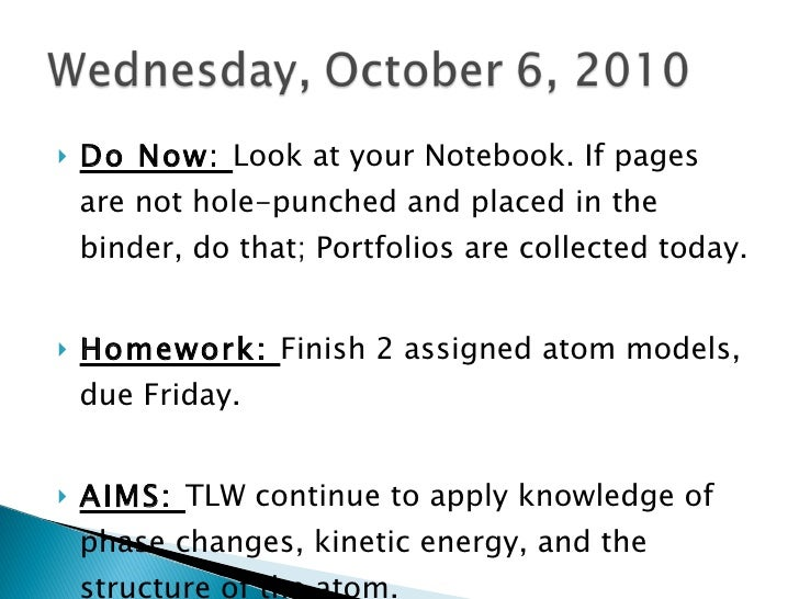 <ul><li>Do Now:  Look at your Notebook. If pages are not hole-punched and placed in the binder, do that; Portfolios are co...